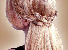 długie włosy warkocz