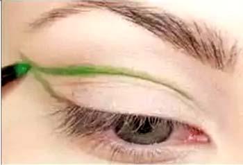 zielony eyeliner
