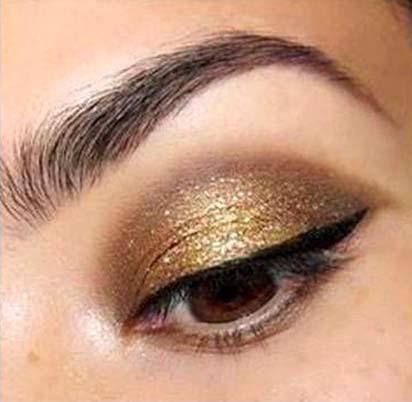 złoto i brąz makijaż235