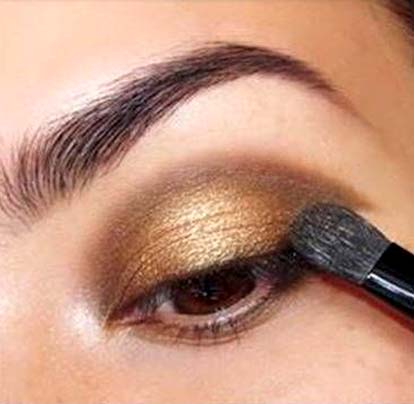 złoto i brąz makijaż23