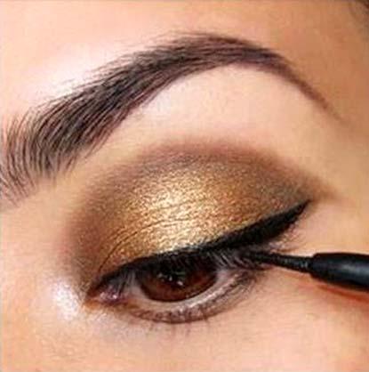 złoto i brąz makijaż4