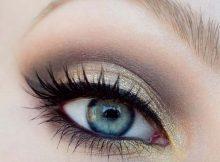 makijaż dzienny ze złotym akcentem